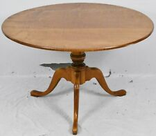 ELDRED WHEELER Tiger Maple Tilt Top Dining Room Table Breakfast Table Bench Made