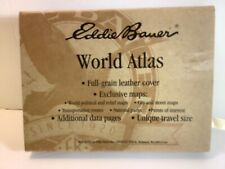 SMALL EDDIE BAUER WORLD ATLA-LEATHER COVER