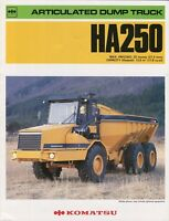 Komatsu Articulated Dump Truck HA250 brochure