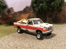1994 Ford F-150 Truck Rusty Weathered Custom 1/64 Diecast Barn Find Wood Hauler