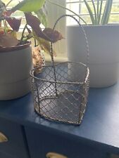 Wire Heart Basket - Grey