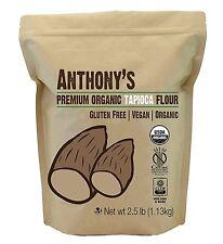 Organic Tapioca Flour / Starch 2.5lbs by Anthony's, Certified Gluten-Free &