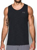 NWT $40 Under Armour Threadborne Fitted Tank Top Men's Size XL Black 1298910-001