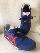 Onitsuka Tiger  Mens US 6 D123N Fiery Red True Blue Gym Shoes Sneakers Laces