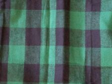 NEW POTTERY BARN GREEN BLACK PLAID LODGE FLANNEL  STANDARD PILLOW SHAM