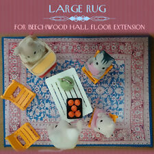 LARGE RUG for Sylvanian Families Beechwood Hall Floor Extension Calico Critters