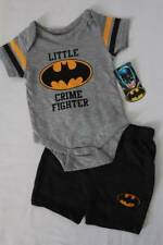 NEW Baby Boys 2 pc Outfit 3 - 6 Mos Batman Bodysuit Shorts Set Lil Crime Fighter