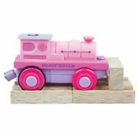 Bigjigs Rail Pink Battery Operated Train Engine Carriage Locomotive Compatible