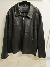 WOMENS COAT - BERNARDO LEATHER - size 4x - black