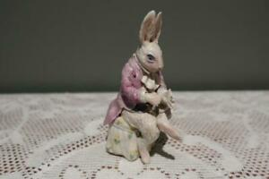 Hand Made Pottery Figurine - Alice In Wonderland - White Rabbit - Vgc