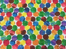 AN34 Eric Carle Very Hungry Caterpillar Book Dots Cotton Quilt Fabric