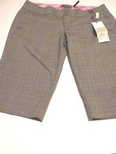 Guess Stretch Women's Size( 32 Europe ) (10 USA ) Pants Shorts  Plaid Beige