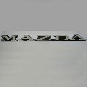 MAZDA , RX2 metal Boot Badge chrome, Brand New, for Rotary Rotor 12A 13B Capella