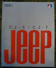 Original 1981 Jeep  CJ-5  / CJ-7 Sales Brochure CJ5 CJ7 81