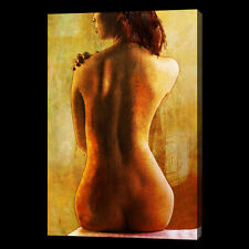 Nude Oil Painting 28x16 NOT a print, giclee poster  Abstract Impressionist