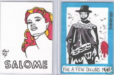"Travis Walton Auto graph Sketch 2008 Breygent The Vintage Movie Poster ""Salome"""