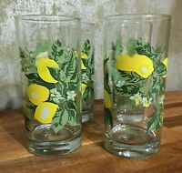 Mid Century Modern Glassware, Set of 4. Lemon Design. Signed Crisa. [a-18]