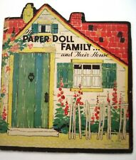 """1934 Booklet Titled """"The Paper Doll Family House"""" - House Only - No Dolls *"""