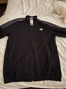 """Adidas Mens Track Top Large L 44"""" Chest Black"""