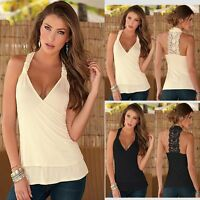 Sexy Women Lady Summer Lace Vest Top Sleeveless Casual Tank T-Shirt Blouse Tops.