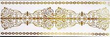 Einmal Temporary Flash Tattoo Classic gold 3teilig Armband Hals Kette Fuß NEU I7