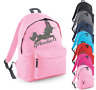 Personalised Name Unicorn Rucksack Backpack Back to School Bag Custom Girls Bags