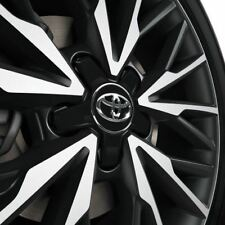 Genuine Toyota C-HR - Center Caps x 4 - Plastic-Matte Black & Chrome PW458-10002