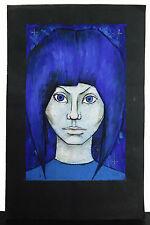 Sylvère Croix, portrait de jeune femme Modern abstract style c1980 young woman