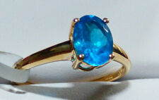 Neon Apatite Solitaire 14K Gold Ring