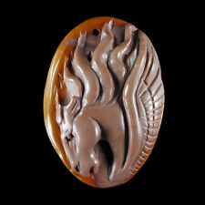 Hand Carved Horse Pendant Bead GC900181