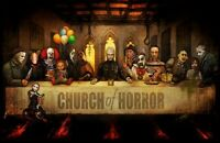 Expendables Of Horror Movie The Last Supper 24x12inch Silk Poster Art Print Hot
