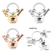 Graduation Keychain Engraved Class of 2020 Gift Keyring Stainless KeychainP_