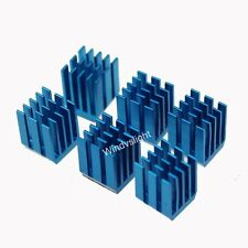 2pcs 9x9x12mm adhesive Blue Aluminum CPU Memory Chip IC NEW Cooling Heat Sink