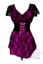 NWT WOMENS PLUS SIZE CLOTHING SWEETHEART CORSET TOP IN BERRY 2X