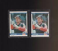 1984 Fleer #58 Carlton Fisk Chicago White Sox Lot of 2