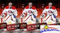 (3) 2015/16 UD Series 1 Hockey Factory Sealed 24 Pack HOBBY Box-18 Young Guns!