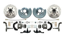 "Dodge Plymouth Mopar A-Body Front 11"" Drilled & Slotted Disc Brake Kit 5x4-1/2"