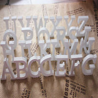 Thick Wood Wooden White Letters Alphabet Wedding  Birthday Decoration topsale
