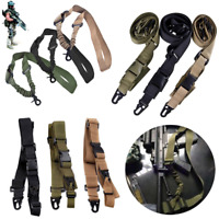 Tactical 1/2/3 Point Sling Adjustable Bungee Rifle Gun Sling Strap Hunting Cord