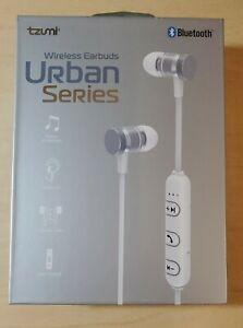 Tzumi Urban Series Wireless Earbuds, White ~ NEW SEALED
