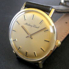 Mens Original 1960s Mathey Tissot 14K SOLID GOLD 17j Vintage Swiss Made Watch A+