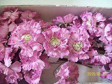 ARTIFICAL FLOWERS SCABIOSA PICK  DEEP MAUVE 72 IN A BOX
