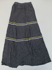 Long Tall Sally Mini Ditsy Tiered Maxi Skirt CK6 Blue Size UK:8 US:4 Tall NWT