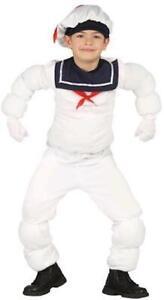 Kids Marshmallow Man Style Sailor Costume Halloween Fancy Dress Child's 7-9 Yrs