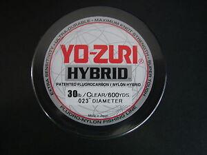 Yo-Zuri Hybrid Fluorocarbon 30 lb. 600yd Clear R660-CL Fishing Line 30lb. 600 yd