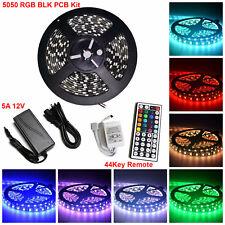 5M SMD Black PCB RGB 5050 Waterproof 300 LED Strip Light 44 Key Remote power