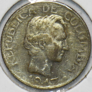 Colombia 1947 10 Centavos 192287 combine shipping