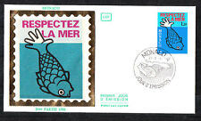 MONACO   enveloppe 1er jour  protection de la vie marine  poisson 1981