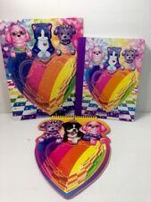 Lisa Frank Puppy Love Lot Heart Cat Puppy Glitter Folder Composition Notebook
