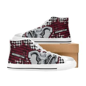Alabama Crimson Tide football High Top Canvas Casual Shoes Custom Sneakers